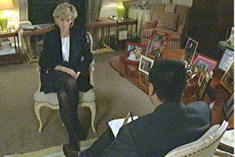 Princess Diana during the interview with BBC reporter Martin Bashir.
