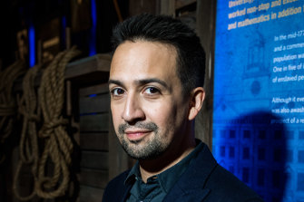 Lin-Manuel Miranda at the world premiere of Hamilton: The Exhibition in Chicago in 2019.