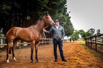 Darren Weir has opened up his Baringhup property for horses affected by the bushfires. Pictured with Melbourne Cup winner Prince Of Penzance.