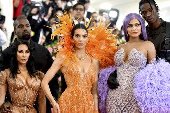 Reality TV playground: Kim Kardashian, Kanye West, Kendall Jenner, Kylie Jenner and Travis Scott at the 2019 Met Gala.