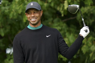 Tiger Woods during practice for the US Open.