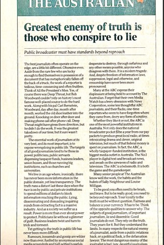 The Australian's editorial on June 8.