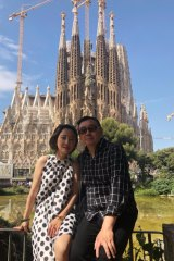 Blogger Yang Hengjun and his wife Xiaoliang Yuan in Barcelona.