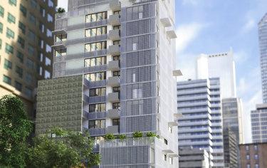 Render of the newBrady Hotels Jones Lane inLittle Lonsdale Street in the heart of Melbourne's theatre district.