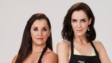 My Kitchen Rules' Veronica, left, with teammate Piper.