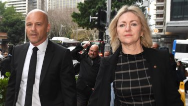Former detective Gary Jubelin  arrives with his lawyer Margaret Cunneen SC at court on Tuesday.