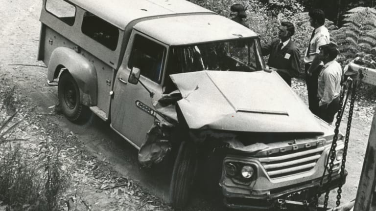 The stolen Dodge that Eastwood crashed during the kidnapping.