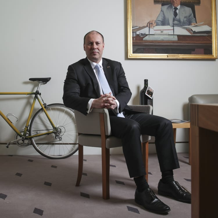 Treasurer Josh Frydenberg in his Parliament House office.