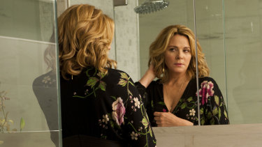 Kim Cattrall plays Davina Jackson, a woman in her 50s dealing with the ageing process, in Sensitive Skin.