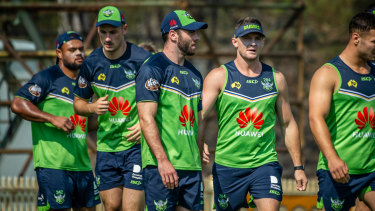 The Raiders have been forced to relocate to Queensland for pre-season training.