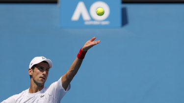 Novak Djokovic is back at Melbourne Park looking to add to his list of grand slam wins at this week's Australian Open.