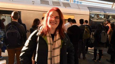 Commuter Julia Hood gave the Sydney Metro Northwest the thumbs up.