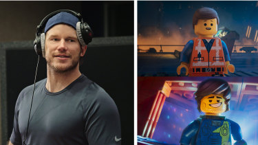 Chris Pratt records the voices for  Emmet Brickowski and new character Rex Dangervest in The Lego Movie 2: The Second Part.
