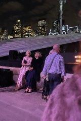 Carla Zampatti, seated right, at the opera last Friday night.