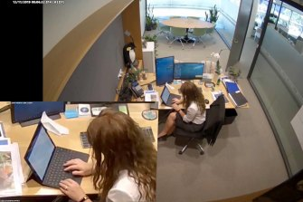 CCTV showed Jolley writing one of the letters on her office computer.