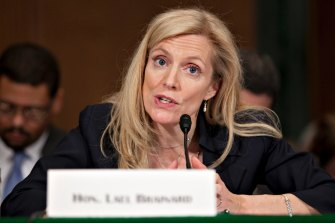 """Federal Reserve board member Lael Brainard referred to an """"elevated"""" appetite for risk in markets today."""