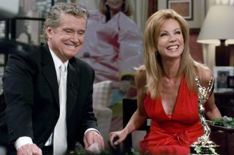 Kathie Lee Gifford and co-host Regis Philbin reminisce during her last appearance on the show, in 2000.