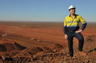 Nev Power during his time at Fortescue Metals Group.