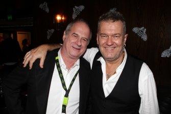 Jimmy Barnes with Michael Gudinski in 2013.