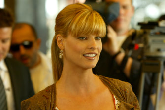 Linda Evangelista, pictured in Sydney in 2004, says she has been left disfigured by a cosmetic procedure.