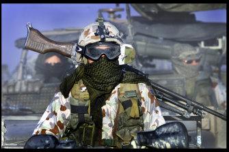 SAS soldiers on patrol in Afghanistan.