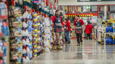 Earnings at Bunnings jumped 12 per cent.