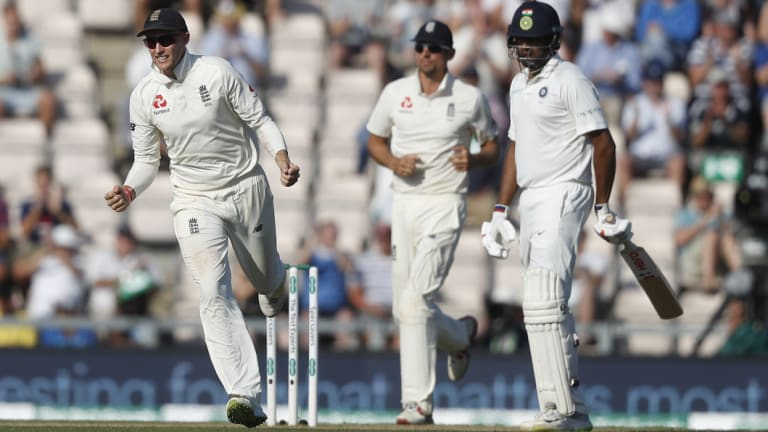 Victor: England captain Joe Root celebrates another wicket on the way to his most satisfying series victory as leader.