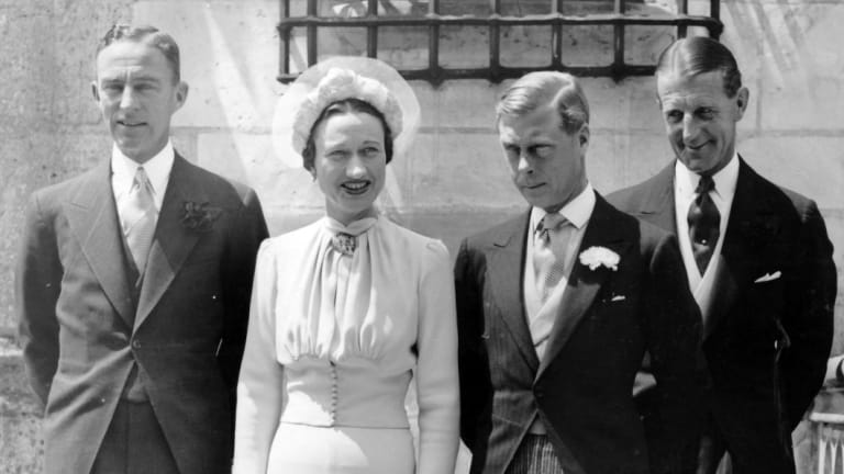 Wallis and Edward after their wedding in 1937.