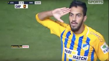 Danger man: Jordan's Musa Al-Taamari.