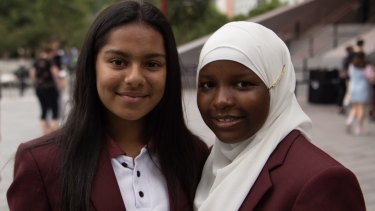 Mariama Bah and Zeenat Razak, both 13, are in year 7 at Chester Hill High School.