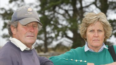 Gus and Ann Gardner on their property in 2012.