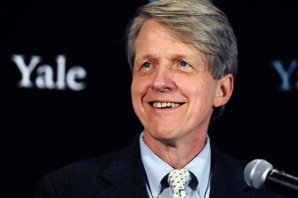 """""""You might say a bubble occurs when people think that the market is going to go up but worry that it may drop. """"That is where we are."""": Nobel prize-winning economist Robert Shiller."""