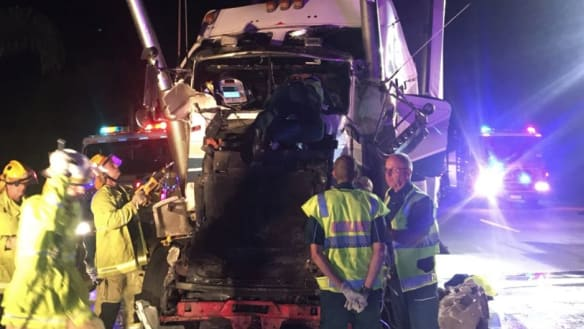 Schoolies: M1 southbound reopens after truck crash leaves 'massive' clean-up operation