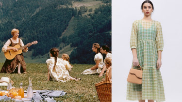 Julie Andrews in The Sound of Music and housefrau picnic chic from Bul.