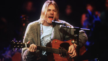 Kurt Cobain of Nirvana during the taping of MTV Unplugged in 1993.