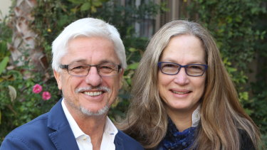 Tech millionaire Charly Kleissner with wife Lisa.