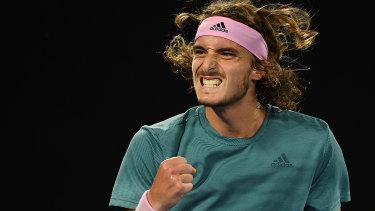 Greece's Stefanos Tsitsipas beat defending champion Roger Federer.