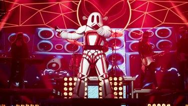 Simpson in his robot costume.