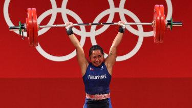 Hidilyn Diaz wins gold.
