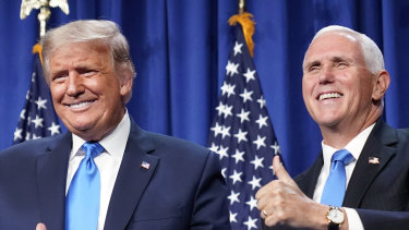 Donald Trump and Mike Pence at the Republican convention.