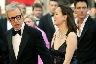 Woody Allen with his wife Soon-Yi Previn at the 58th international Cannes film festival in 2005.