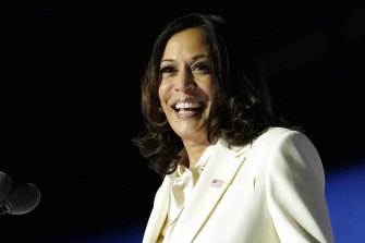 Kamala Harris greets supporters in Delaware as Vice-President-elect.