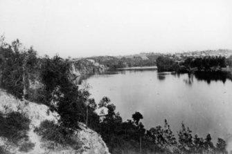 The Brisbane River circa 1878.