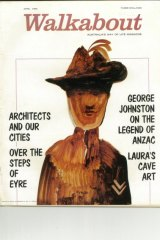 Sidney Nolan supplied the cover art for this April 1965 edition of <i>Walkabout</i> magazine.