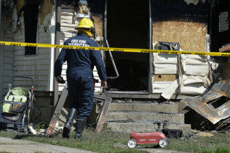 Fire inspectors investigate the fire which claimed the lives of multiple children in Pennsylvania.
