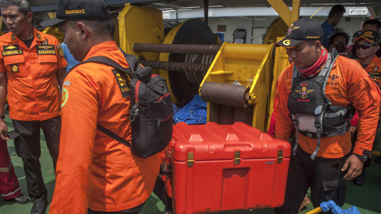 A box containing the flight recorder was retrieved on Thursday.