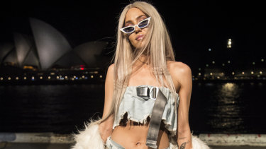 Imogen Anthony at Rihanna's Fenty Beauty birthday party in Sydney on Wednesday night.