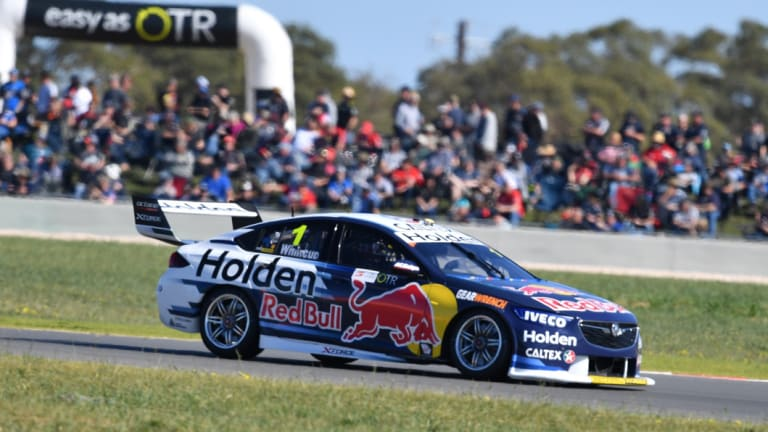 New circuit: Jamie Whincup from Triple Eight Race Engineering earns his third pole of the year at The Bend.