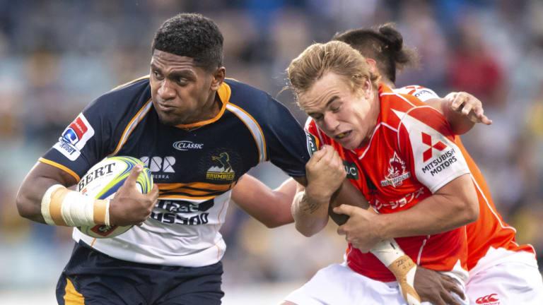 Eye to the future: The Fiji-born Isi Naisarani will be eligible to represent Australia early next year.