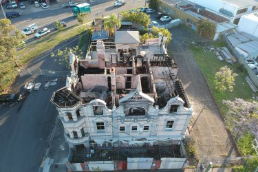Images of the derelict Broadway Hotel after the September 2018 fire.